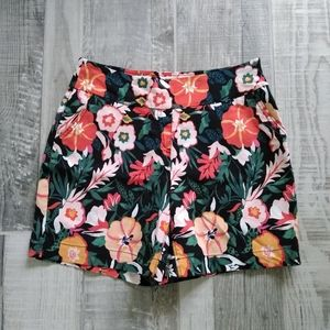 Westbound The Park Ave Fit Floral Short Poppy